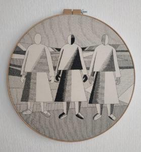 «Девушки в поле» К. Малевич