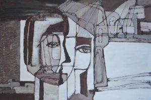 Триптих «Город и человек», левая часть