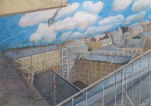 Серия «Плывут облака над городом», лист №3