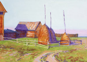 Деревня на закате