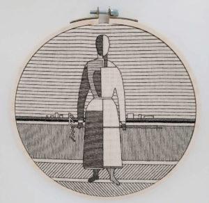 «Девушка с граблями» К. Малевич