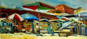 Восточный базар. Этюд