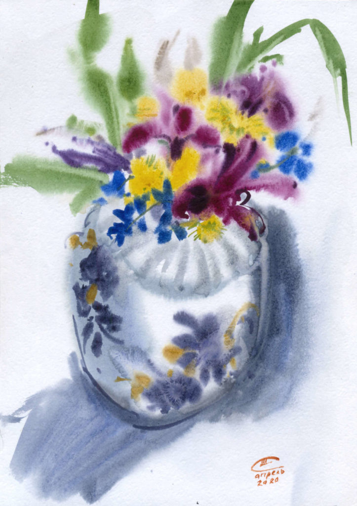 Первоцветы в вазе