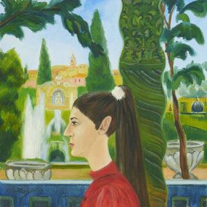 Пейзаж эпохи Возрождения. Герцогиня д'Эсте в Тиволи.