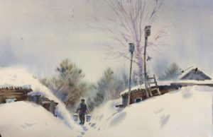 Снежная зима. Шадриха
