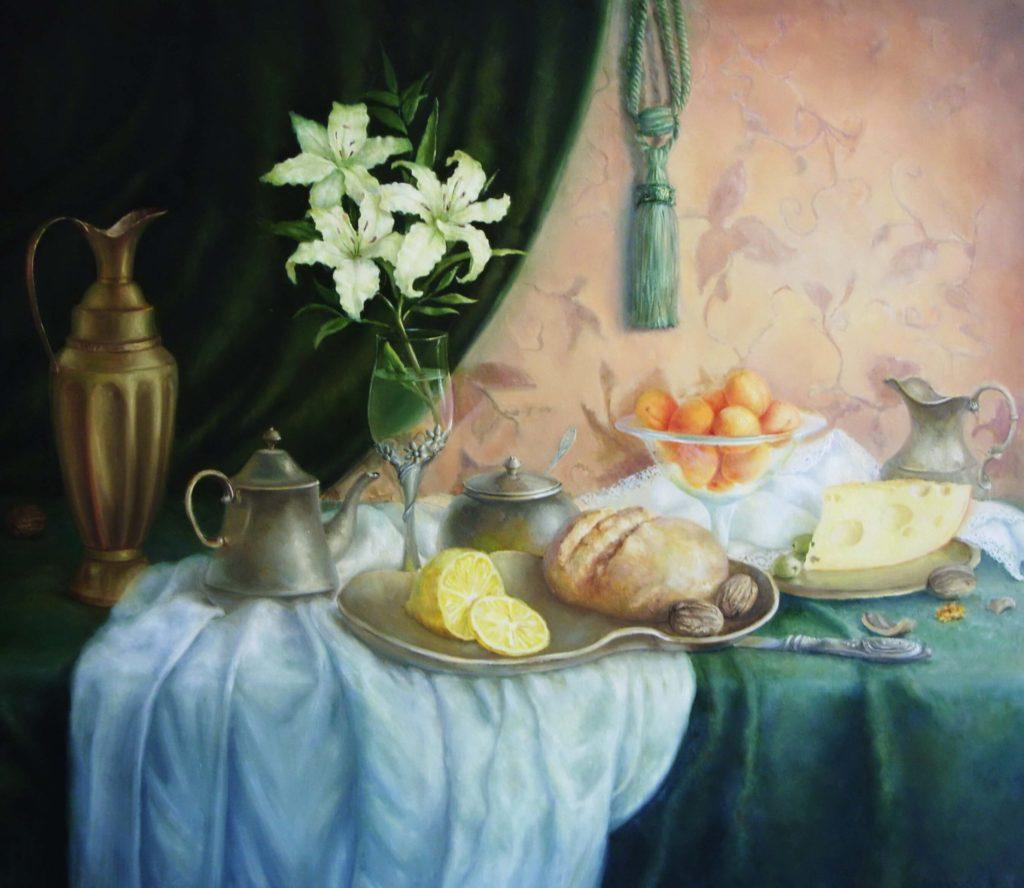 Завтрак с лилиями